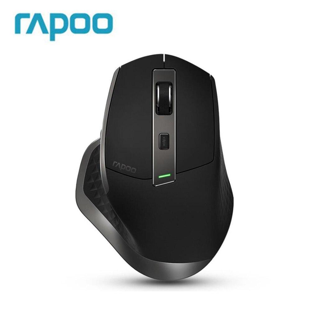 Rapoo Rechargeable Multi-mode souris sans fil Bluetooth 3.0/4.0 Et 2.4G Commutateur Pour Quatre Appareils Connexion Ordinateur de Jeu souris