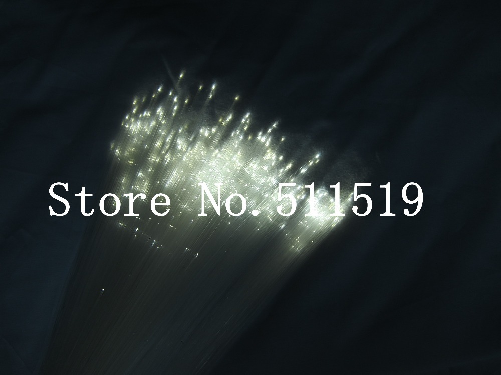 Pure white LED Fiber Optic star  lighting kit, mixed 340 strands  4m , 0.75mm+1.0mm+1.5mm + crystal ,dimmable and RF remote