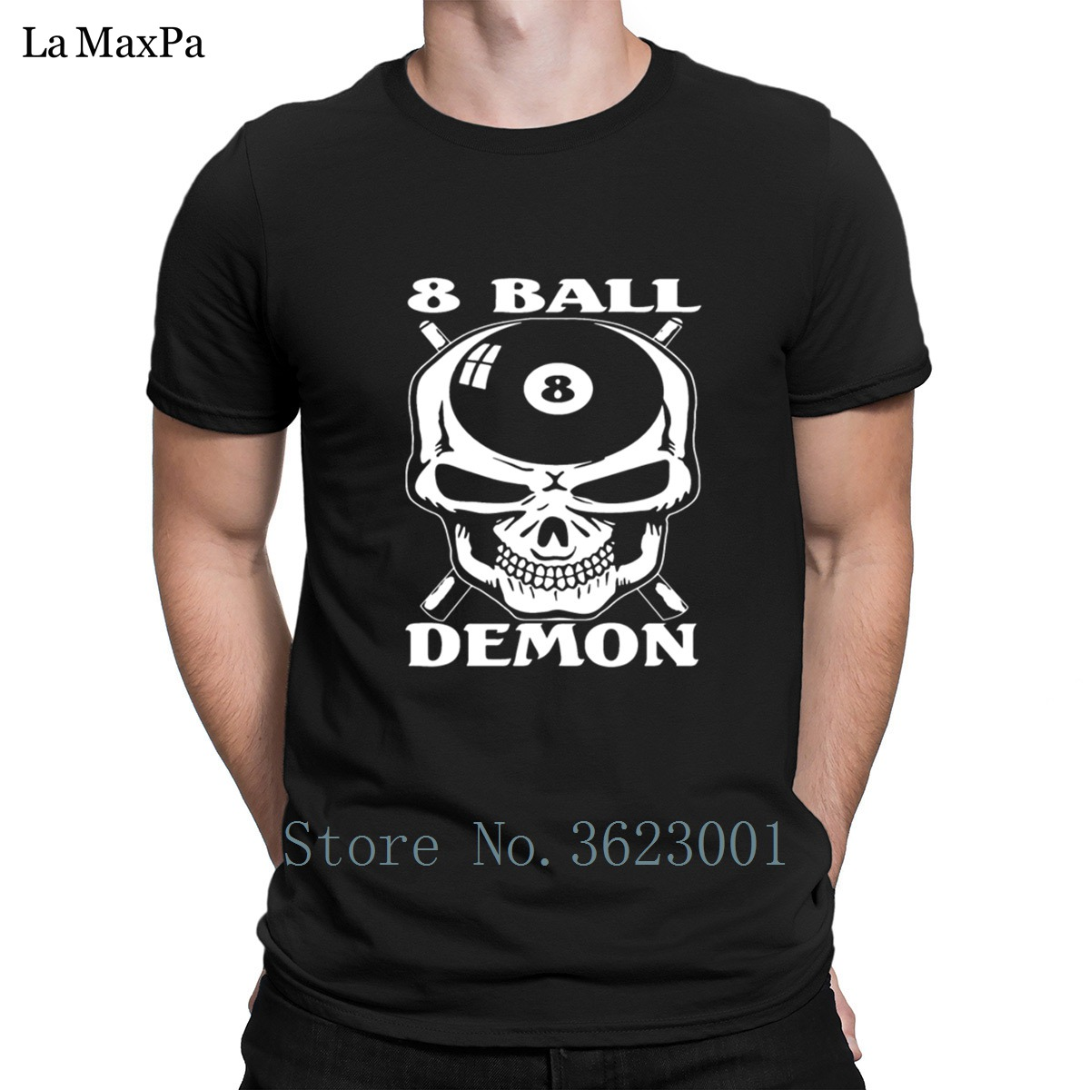 Printing Leisure T-Shirt For Men Camiseta De Billar Bola 8 Demon Tshirt Mens 2018 Tee Shirt Unique Mens T Shirt Plus Size Cute