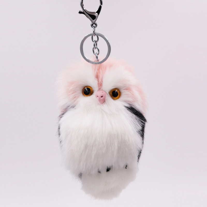 RE-Cute-Pompom-Owl-Keyrings-Keychains-Faux-Rabbit-Fur-Pompom-Fluffy-Trinkets-Car-Handbag-Pendant-Key (2)