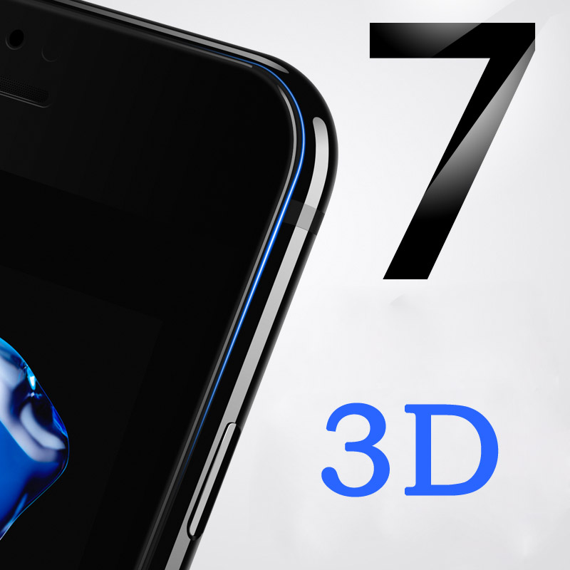 For Iphone 7 7 Plus 3D Full Cover Coverage Screen Protector Real Tempered Glass For Iphone7 7Plus Tempered Glass