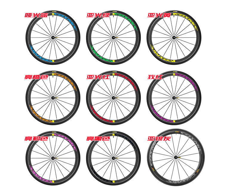 24 Pieces/set 2017 Two Wheels Rim Set Stickers for Road Bike Bicycle Mavic Cosmic Pro Carbon SL 40C Decals