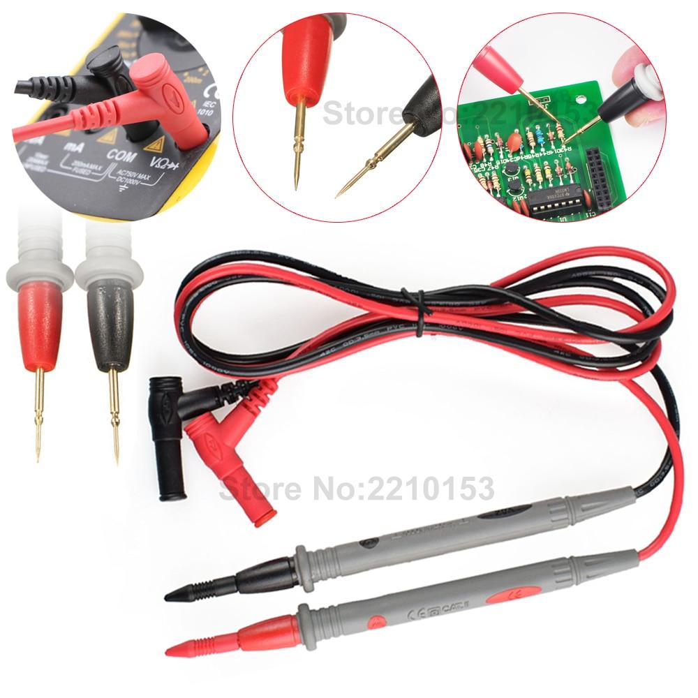 1 paire de fils de Test 1000V 20A Ultra Fine pointe mince aiguille universelle Durable numérique multimètre SMD SMT aiguille pointe fil stylo câble