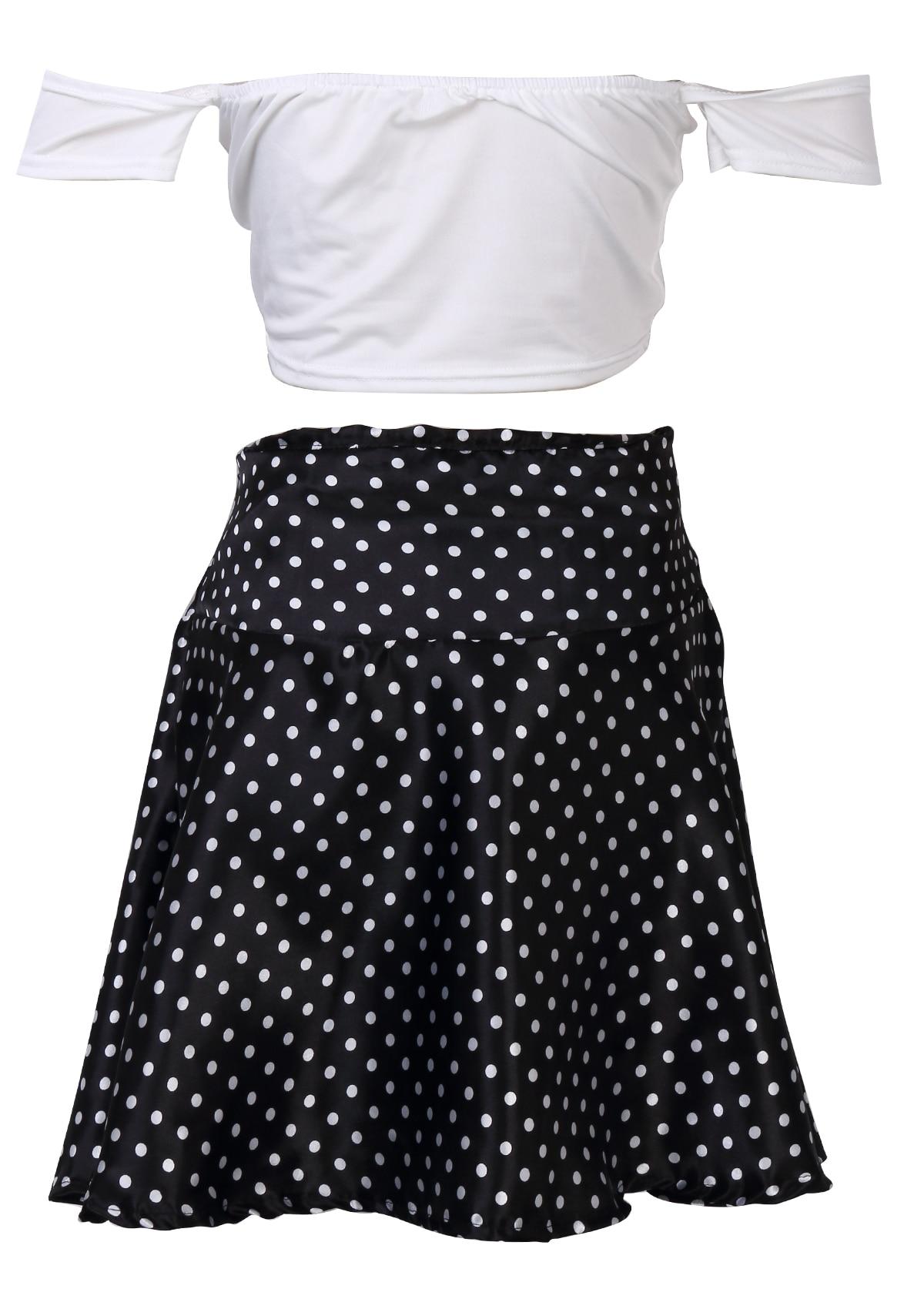 b403ae2ee0 2 Piece Sets Women short Sleeve Crop Top + Mini Dot Skirt Set High Waist  Bodycon Sexy-in Women's Sets from Women's Clothing on Aliexpress.com |  Alibaba ...