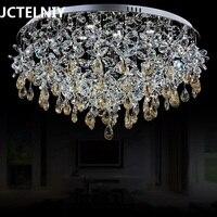 LED кристалл круглый потолочный светильник кристалл лампы гостиной спальня огни