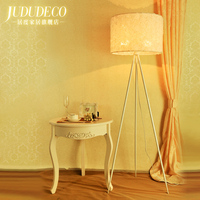 Tripod Bedroom Fabric Flower Floor Continuous System Rural Land Lamp New Classical Room Floorlamp For Bedroom Hotel Stand Lights