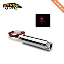 Красный лазерный точечный модуль 250 МВт 650нм высокомощный лазер с фокусировкой DIY гравировальный станок лазерная головка
