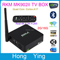 RKM MK902II 2G / 16GAndroid 4.4 Quad Core RK3288 4k*2k TV BOX W/ Bluetooth +Dual Band Wifi RJ45 + External Antenna DLAN TV Stick