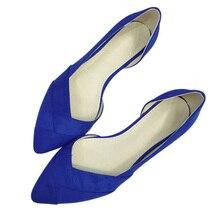 Neue 2017 Frühling Sommer Frauen Schuhe Spitz Hohe Qualität marke Mode Womens Wohnungen Damen Plus Größe 41 Süße Flock T179