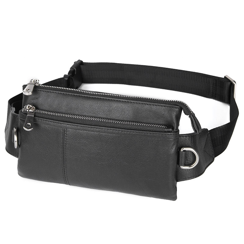 Genuine Cow Leather Funny Pack Waist Bag New Design Multi-function for Men 3017A