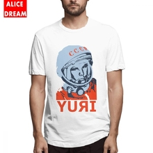 For Man Russia CCCP T Shirt Be First Like Yuri Gagarin Tee New Custom T-Shirt Pure Cotton S-6XL Plus Size Homme T Shirt стоимость