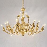 مصابيح قلادة الحديثة آرت ديكو led سوان الثريا غرفة المعيشة شنقا مصباح الإضاءة المنزلية الإضاءة
