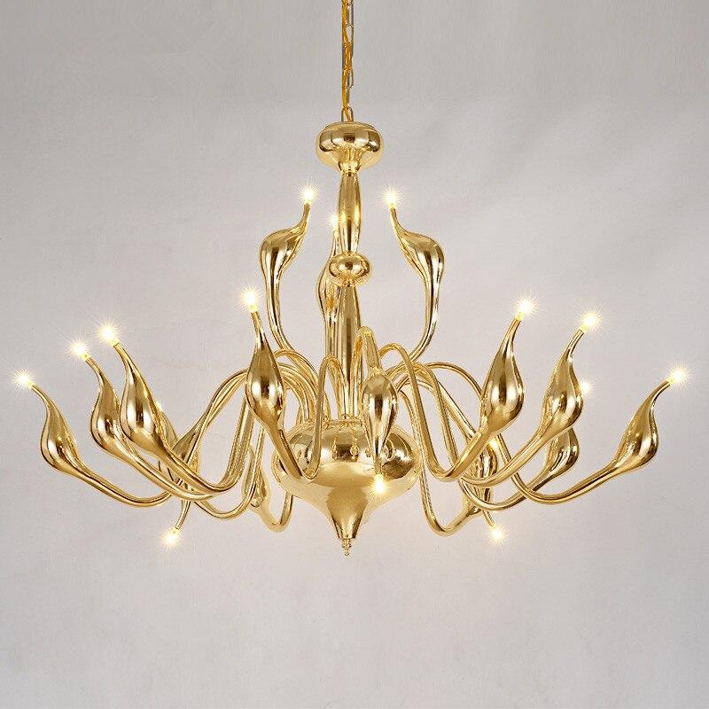 candle decorative modern pendant lamp. art deco european candle crystal led swan pendant lights bedroom living room lamp modern decoration decorative