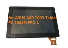 Para asus padfone 3 infinito t003 a80 tablet pc panel de la pantalla lcd de pantalla táctil digitalizador 5363n fpc-1 con marco a-
