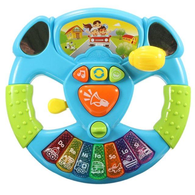 Luces música Herramientas de Transporte Educación Juguetes de Inteligencia Bebé Juguetes Volante Multifuncional con Botón Electrónico