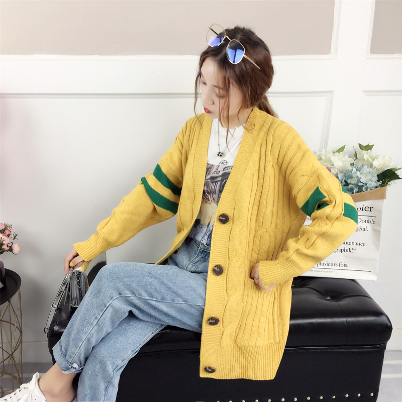 ccb3239af8 2019 Cardigans Sweaters Women 2018 Autumn Winter Casual Long Sleeve ...