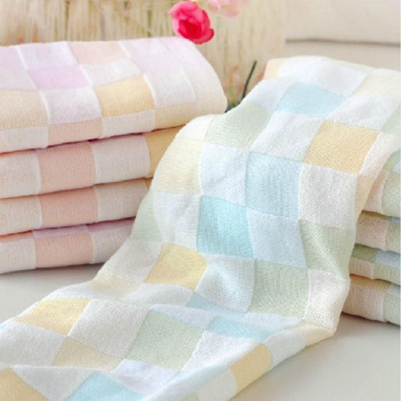 Plaid Print Microfiber Absorbent Drying Beach Bath Towel Baby Swimwear Towels New Arrival