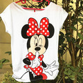 2015 Fashion women's T shirt sLIM Short Sleeve fashion women tees Cotton Cartoon Mouse O-neck tops