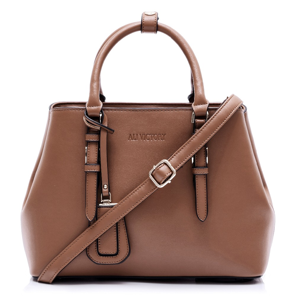 Classique femmes Top-poignée sacoche sac à main dames en cuir travail fourre-tout mallette rigide sac à bandoulière filles Messenger sac à bandoulière