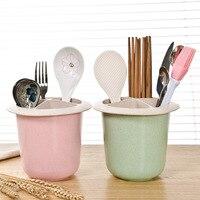 Wheat straw chopstick multifunction Drain chopsticks holder, kitchen cutlery storage box chopstick box