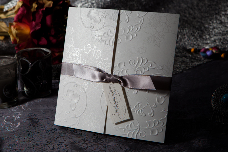 White Lace Burlap Rustic Wedding Invite Envelope