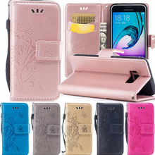 For (samsung galax S8) fundas Embossing PU leather Phone bags for Coque samsung S8 Cover flip wallet case galaxy s8 phone cases(China)