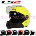 Combinación casco de la motocicleta de doble lente LS2 OF578 moto 3/4 cascos de bicicleta eléctrica cuatro Estaciones de ABS Tamaño L XL