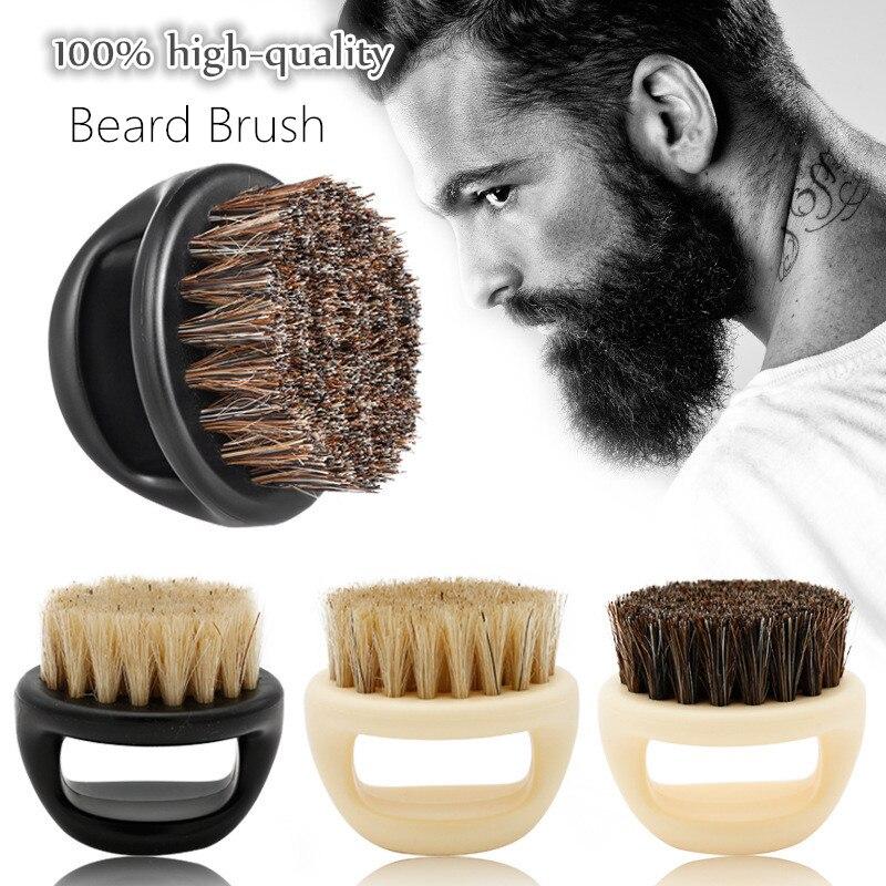 Wild Boar Hair Men's Shaving Brush Barber Salon Men's Facial Beard Cleaning Appliance Razor Beard Brush with Handle Shave Tools