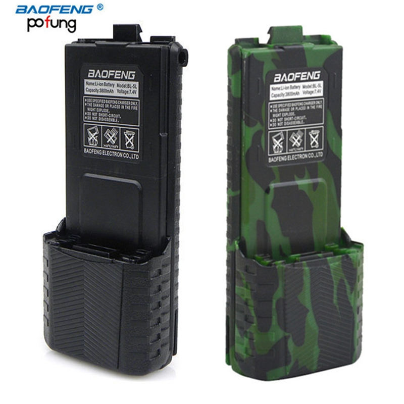 Original Baofeng UV-5R Walkie Talkie Large Capacity Battery BL-5L 7.4v 3800mAh For BF-F8 UV-5RA UV-5RE DM-5R UV5R UV5RE