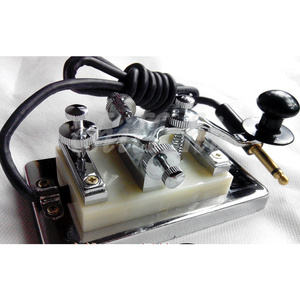 Image 1 - Short wave radio Morse Morse code CW secret room prop power generation Changshu K4 key K 4 hand key