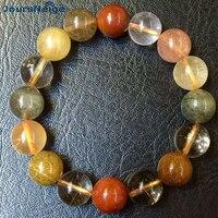 Color Hair Natural Crystal Bracelets Beads 12mm Help business Lucky for Men Women Women Korean Style Crystal Bracelet Jewelry