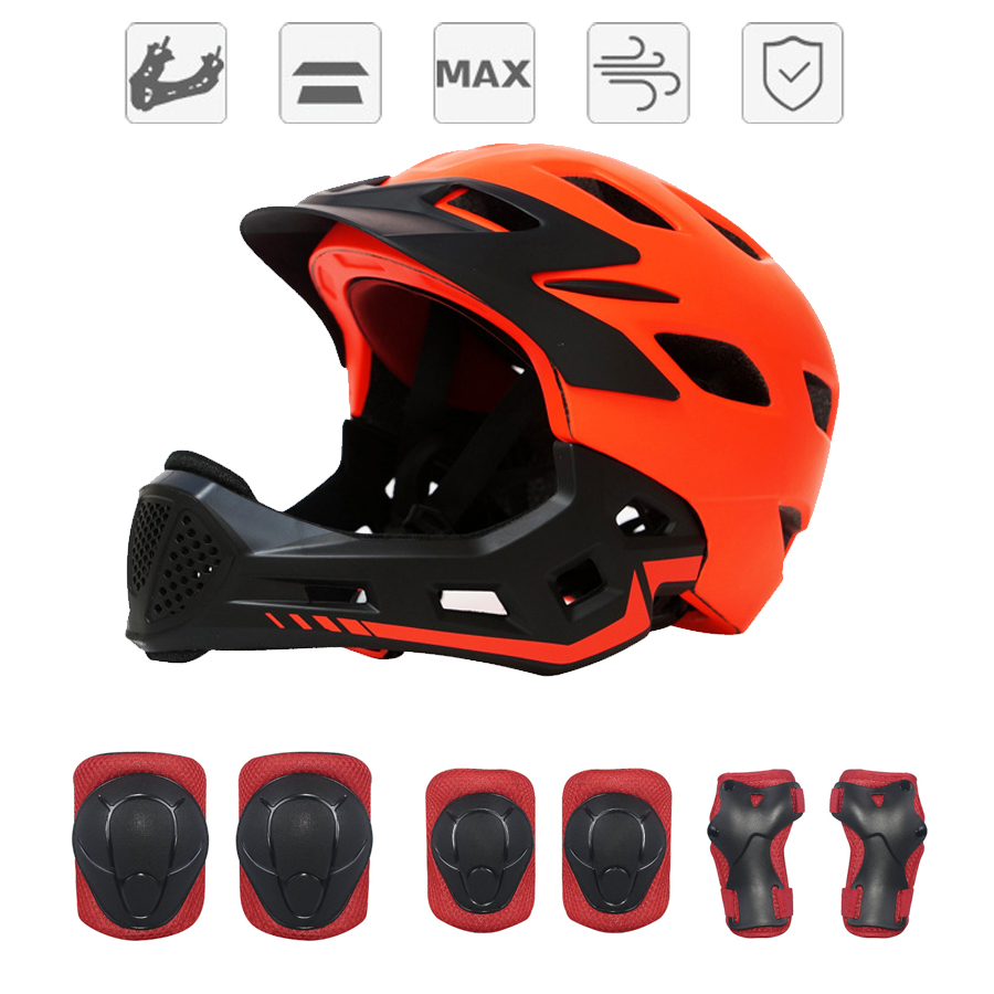3 12 Year Old Full Face Covered Kids Bike Helmets Cycling Safety Hats Children Boys Protect