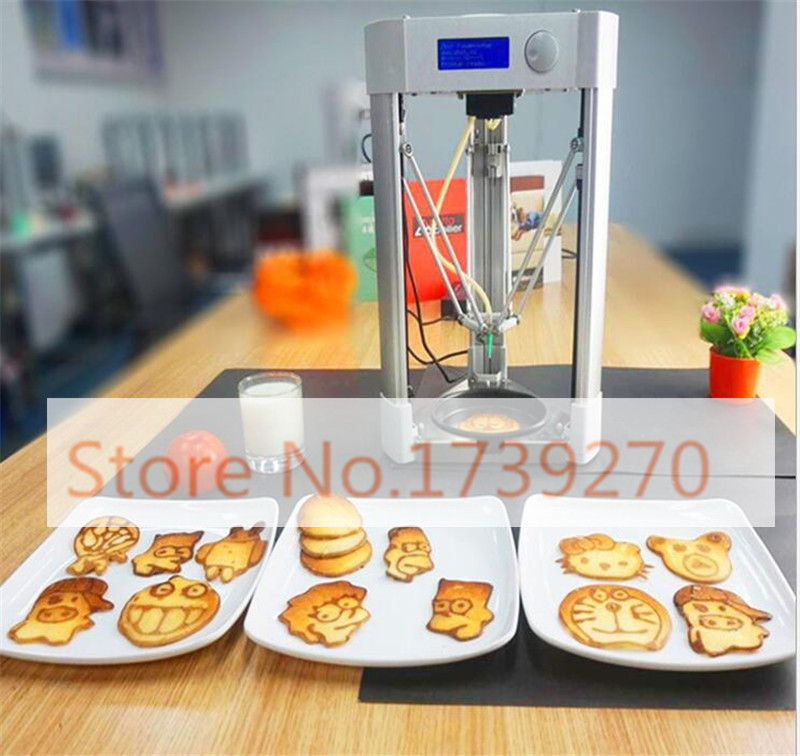 hot sale 3dfood printer, pancake printer,bread printer, biscuit printer for home use/commerial use printer youtube
