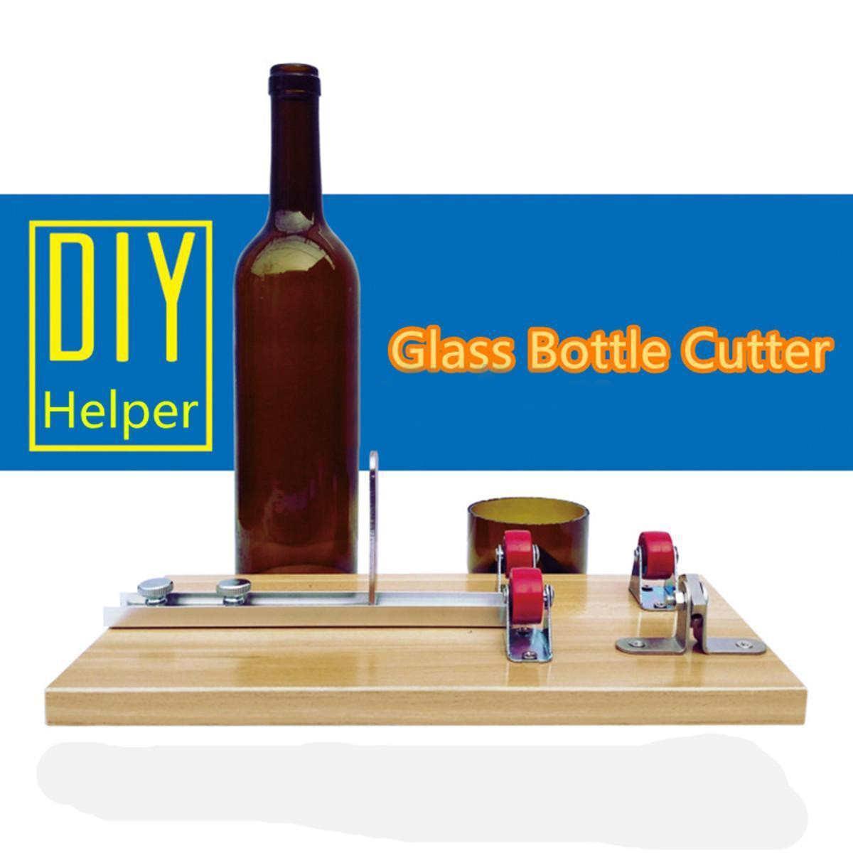 Top Quality DIY Glass Bottle Cutter Machine Beer Jar Cutter Easy To Use Glass Bottle Cutter Tool Mayitr Hand Tools 5pcs plastic bottle cutter machine craft tool diy kit blade accessories