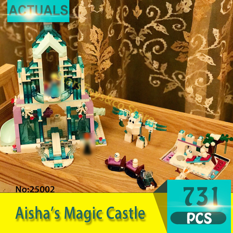 Lepin 25002 731Pcs Friends series Aisha's Magic Castle Model Building Blocks Set  Bricks Toys For Children  Gift Girl toy 41148 10551 elves ragana s magic shadow castle building blocks bricks toys for children toys compatible with lego gift kid set girls