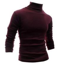 TFGS Mens clothing basic turtleneck shirt slim male sanded long-sleeve T-shirt 100% cotton thermal underwear