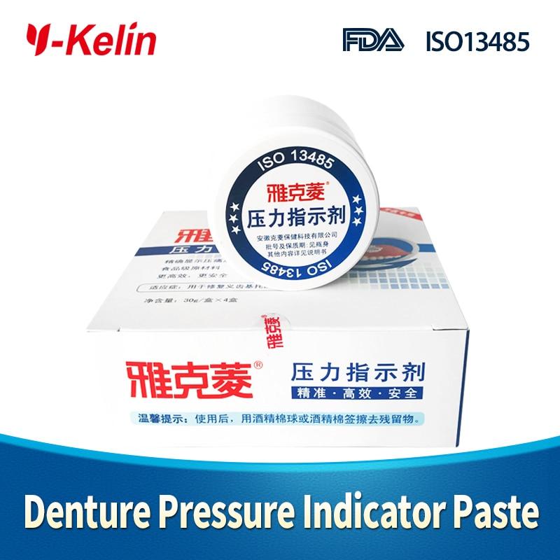 Y-kelin Denture Pressure Indicator Paste 30g*4 boxes PIP denture adjusting tool