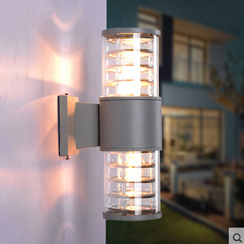 10w up down outdoor led wall light cylinder porch lamp for Luminarias de exterior led