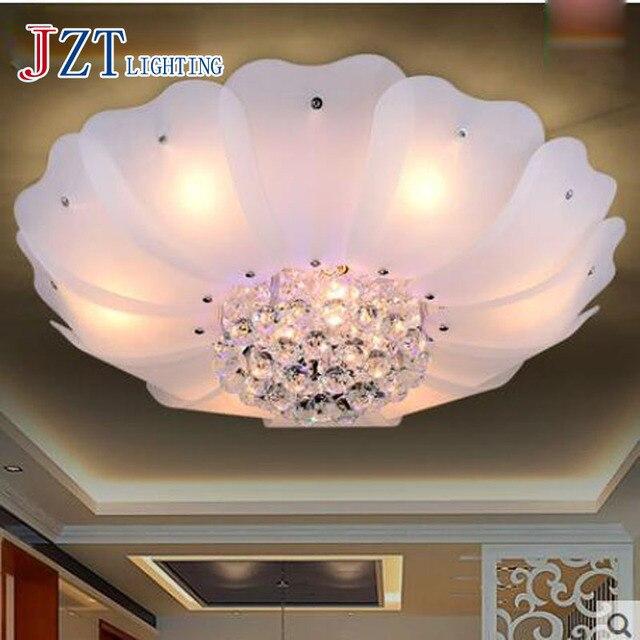T Neue Weiße LED Deckenleuchte Für Wohnzimmer Home Beleuchtung Blume  Kristall Moderne Luxus Lampen Schlafzimmer