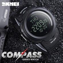 SKMEI 1231 Hommes Numérique Montres Temps Du Monde DST Boussole Alarme Calendrier Horloge 50 M Étanche Relogio Masculino Montres de Sport