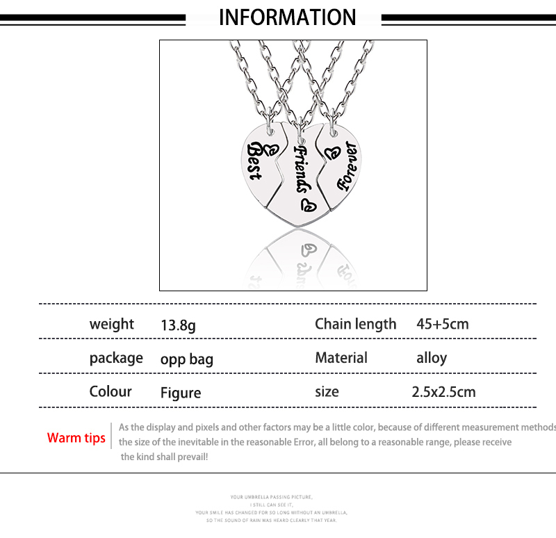 HTB1ikYMXXzsK1Rjy1Xbq6xOaFXal - Best Friend Necklace Women Crystal Heart Tai Chi Crown Best Friends Forever Necklaces Pendants Friendship BFF Jewelry Collier