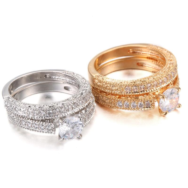 Schmuck & Zubehör Praktisch Honghong 2019 Neue Hochzeit Doppel Ringe Für Frauen Trendy Party Geschenk Engagement Romantische Anzug Ringe Mode Weibliche Schmuck # R81015