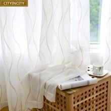 Занавески из тюля для гостиной, вуаль, прозрачные 3d белые занавески для спальни, столовой, готовые, на заказ