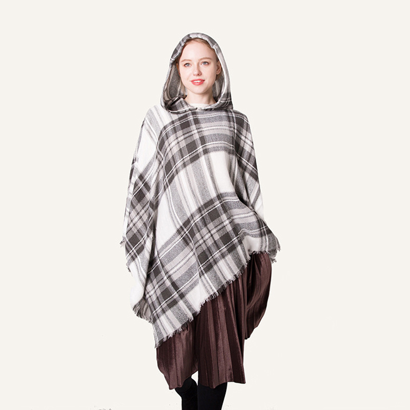 Design New Poncho Winter Scarf For Women Luxury Brand Cashmere Scarf Scarves Colored Plaid Shawl Gifts In Stock Free Shipping