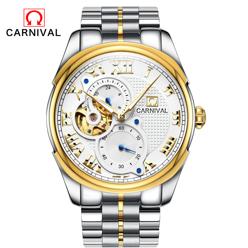 Relojes 2017 Watches Men Top Brand Luxury CARNIVAL Tourbillon Automatic Mechanical Watch Mens Fashion sport Wristwatch relogio mens watches top brand luxury holuns 2017 men watch sport tourbillon automatic mechanical stainless steel wristwatch relogio mas