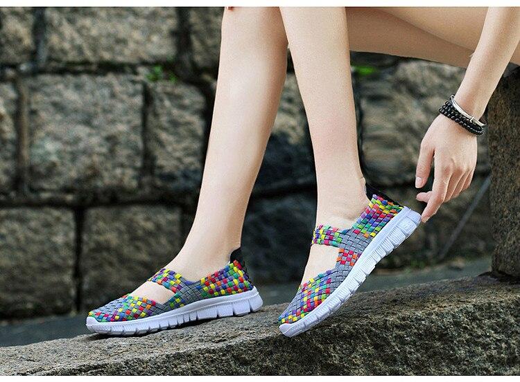 QJ 599-2019 Breathable Women Summer Shoes Fabric Woman Flats-10