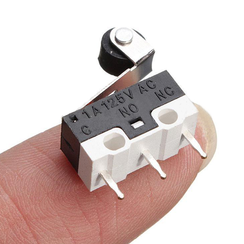 цена на New 5pcs Mini Micro Switch Roller Lever Actuator Microswitch SPDT Sub Miniature Accessories