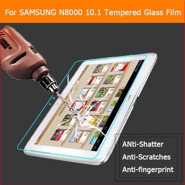 1 unids de cristal templado de cine Para Samsung Galaxy Note 10.1 N8000 P5100 CM998 T15 tablet pc Anti-shatter LCD Películas Protector de la pantalla