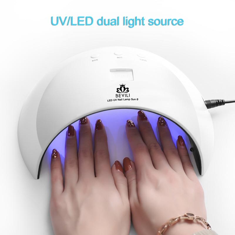 WohltäTig 24 Watt Nagel Trockner Lampe 8 Leds Für Alle Gele Polnischen Maniküre Nail Art Zubehör Usb Lade Hjl2018 Nageltrockner