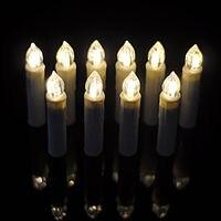 Warm White LED Candle Christmas Party Ornament Wedding Decor 10pcs